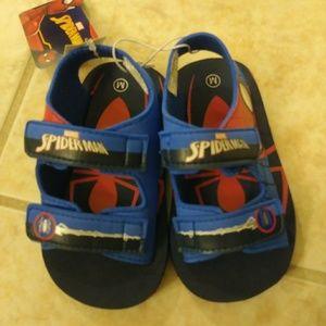 Marvel Shoes - Boys toddler sandals. Spiderman